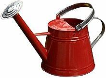 wangxn-Topf Bewässerung Metall verzinkt Aktivität Mundstück Mundstück Mund mit doppeltem Verwendungszweck Mund lange 4.9Liter red Foto Farbe
