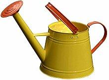 wangxn-Topf Bewässerung Metall verzinkt Aktivität Mundstück Mundstück Mund mit doppeltem Verwendungszweck Mund lange 4.9Liter yellow Foto Farbe