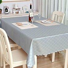 WANGXQ Tischdecke Staub Breathable Staubtuch Serviettenstoff Polyester, silver grey, 140*220cm