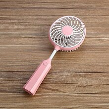 WANGXQ USB-Elektrischer Ventilator-Kreativer Mini Beweglicher Kursteilnehmer-Falte USB-GebüHr BadmintonschläGer Sommerfan , pink