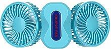 WANGXQ USB-Ventilator Kreatives Paar Mini-Ventilator USB-GebüHr Mit Nachtlicht Doppel-Motor Falten Usb Elektrischer Ventilator , blue