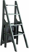 WANGYZ Klappstuhl 4 Step Ladder Hocker Bamboo Holz