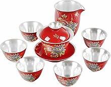 Wangzhi Bonus-Tee-Set mit Pfingstrose,