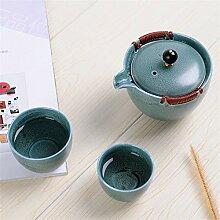 Wangzhi Keramikbecher mit Teesieb für Reisen und