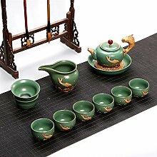 Wangzhi Kung Fu-Tee-Set aus Keramik (Farbe: Stil 1)