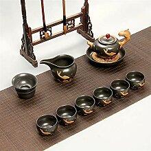 Wangzhi Kung Fu-Tee-Set aus Keramik (Farbe: Stil 3)
