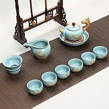 Wangzhi Kung Fu-Tee-Set aus Keramik (Farbe: Stil 4)