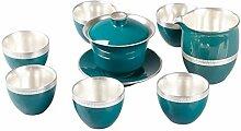 Wangzhi Kung Fu Tee-Set aus Keramik, für Zuhause,