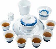 Wangzhi Kung-Fu-Tee-Set aus Keramik, handbemalt,