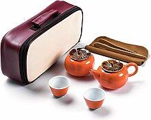 Wangzhi Kung-Fu-Tee-Set (Farbe: 1 Kanne und 2