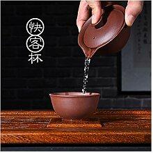 Wangzhi Kung Fu-Tee-Set mit violettem Becher,