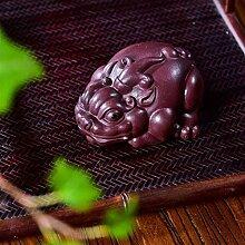 Wangzhi Production, violette Ton-Skulptur, für