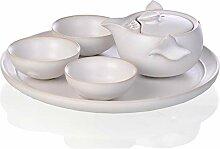 Wangzhi Ru Ru Ru Porzellan-Tee-Set aus Keramik,