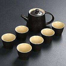 WANGZHI Tee-Set aus Keramik mit rotem Tao Gongfu