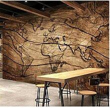 WANGZXC Wandbild 3D Wallpaper Holzmaserung