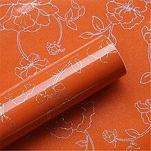 WanJiaMen'Shop Farbe Möbel Aufkleber perlglanz Lackierung selbstklebende Möbel Tapeten, 500 * 60 cm, orange