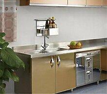 WanJiaMen'Shop Kühlschrank-Aufkleber Möbel Renovierung Aufkleber selbstklebende Schrank Schranktür Aufkleber wasserdicht Dose Peeling Metall gebürstet Gold Aufkleber, 200 * 100cm