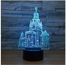 Wanjuna 3D Illusion Lampe 7 Farbe Visuelle Led