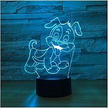 Wanjuna 3D Lampe 7 Farbe Led Nachtlampen Für