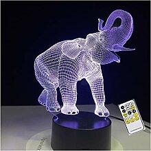 Wanjuna 3D Lampe 7 Farbe Usb Nacht Lampe Led