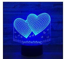 Wanjuna 3D Lampe 7 Farben Led Nachtlampe Für