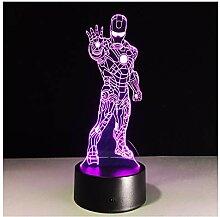Wanjuna 3D Lampe Kinder Nachtlampe Room Decor