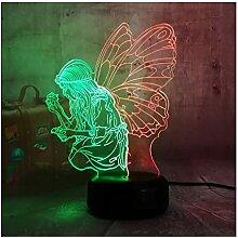 wanjuna 3D Lampe LED Nacht Beauty Geschenk für