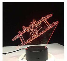 Wanjuna 3D Led Lampe Rgb Stimmung Lampe 7 Farben