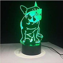 Wanjuna 3D Nachtlicht 3D Lampe 7 Farbe Led