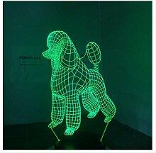 Wanjuna 3D Nachtlicht 3D Lampe 7 Farben Led