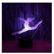 Wanjuna 3D Nachtlicht 3D Lampe Gymnastik Blau 7