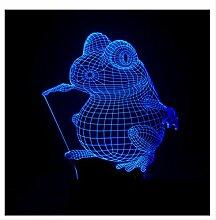 Wanjuna 3D Nachtlicht 3D Nachtlicht Frosch 3 D