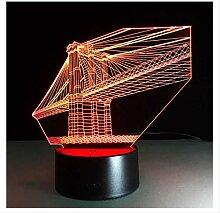 Wanjuna 3D Nachtlicht 7 Farben Deco Lampe 3D