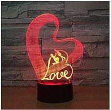 Wanjuna 3D Nachtlicht Led Tischlampe 3D Illusion