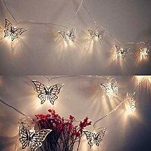 Wankd LED Schmetterling Lichterkette, Metall