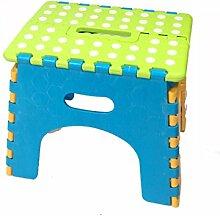 Wanli Shopping Mall Portable Kunststoff Mini Folding Kinder Hocker (Farbe : C)