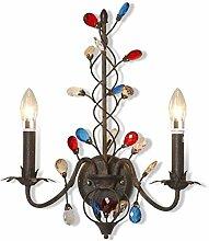 Wanmei® Wandlampe Antik-Stil Rustikale Kerze