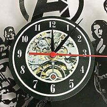 wanmeidp Wanduhr Cartoon Schallplatte Uhr