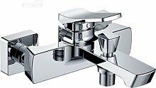 Wannenarmatur Chrom Design Mischbatterie Bad Einhebel Armatur Wannenfüll-Armatur