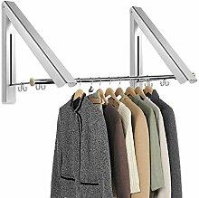 WANOTO Klappbar Wand-Kleiderständer, Kleiderhaken