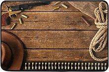 wanshangcheng Kugel und Hut auf Fußmatte aus Holz