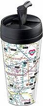 Wantit Isolierbecher, für Reise, Motiv Love Map,