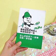 WanTo 3 stücke 50 Blatt Korea Kreative Lustige