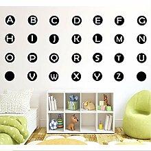 Waofe Abnehmbare 26-Buchstaben Alphabet