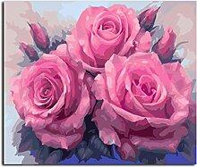Waofe Bilder Malen Nach Zahlen Abstrakte Blume
