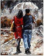 Waofe Gehen In Den Regen Liebhaber Diy Malen Nach