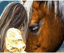 Waofe Tiere Pferd Gerahmte Bilder Diy Malen Nach