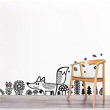 Waofe Wilde Tiere Fox Wandtattoo Vinyl