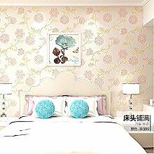 Wapea 3D Solid Verdickung Minimalistischen Schlafzimmer Tapete Light Pink