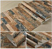 Wapea 3D Wallpaper antike Tapete Retro Restaurant chinesisch Restaurant Wand Hintergrund Grau Blau Gelb 981102